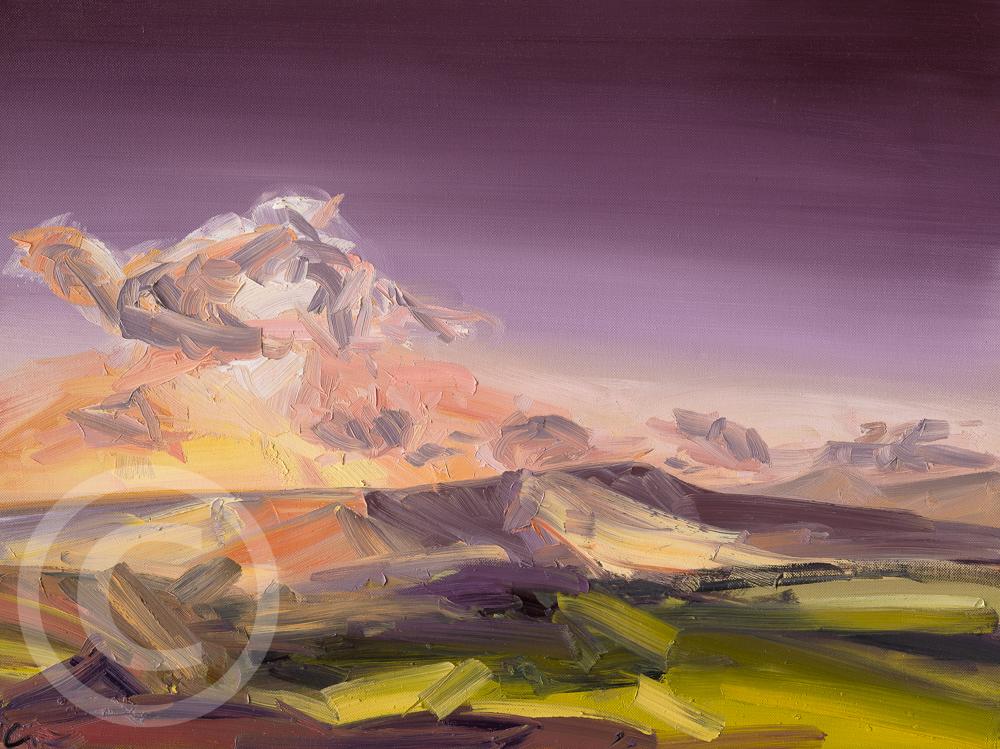 Oil Painting - Longridge Fell