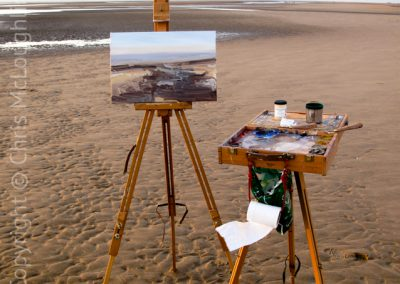 Painting A Late Evening On The Beach