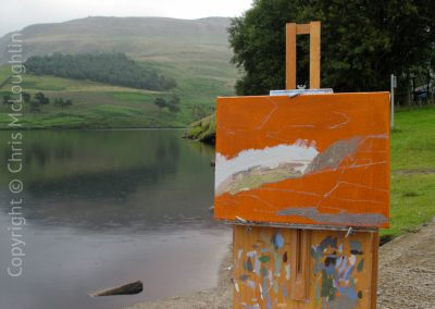 Painting In The Rain At Dovestones