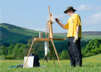 Painting at Bolton Abbey