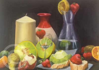 Classic Chiaroscuro Still Life Oil Painting