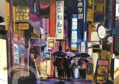 Hong Kong Cityscape at Night using Chiaroscuro
